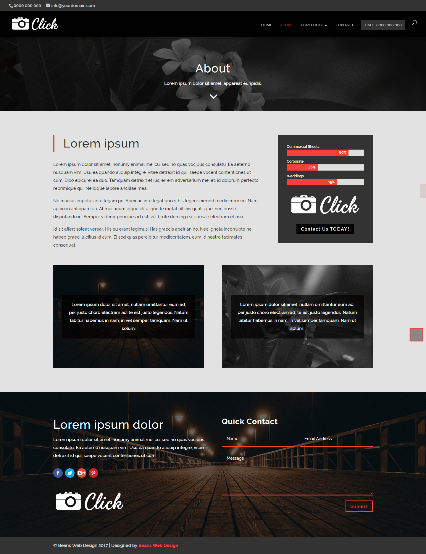 Download Click - Divi Theme Template | Beans Web Design